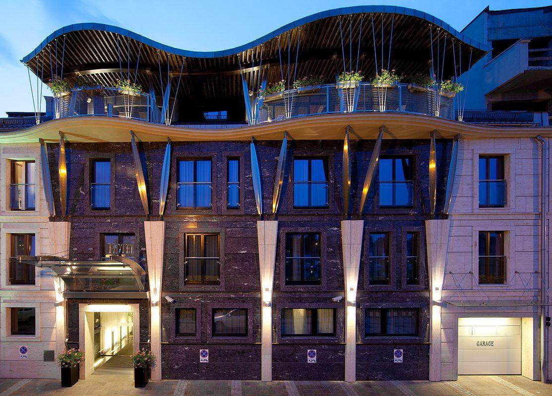 External view hotel w krakowie art hotel niebieski for Art hotel design